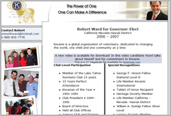 Robert Ward for Governor-Elect
